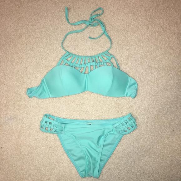 d51e57451a908 PacSun Swim | Baby Blue Bikini Set | Poshmark